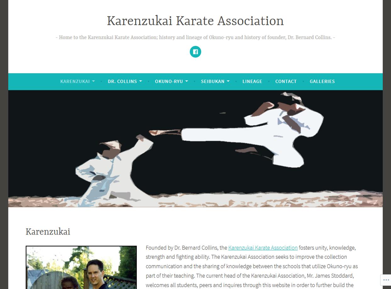 Karenzukai Karate Association Portfolio Project James Wieland Front End Dev