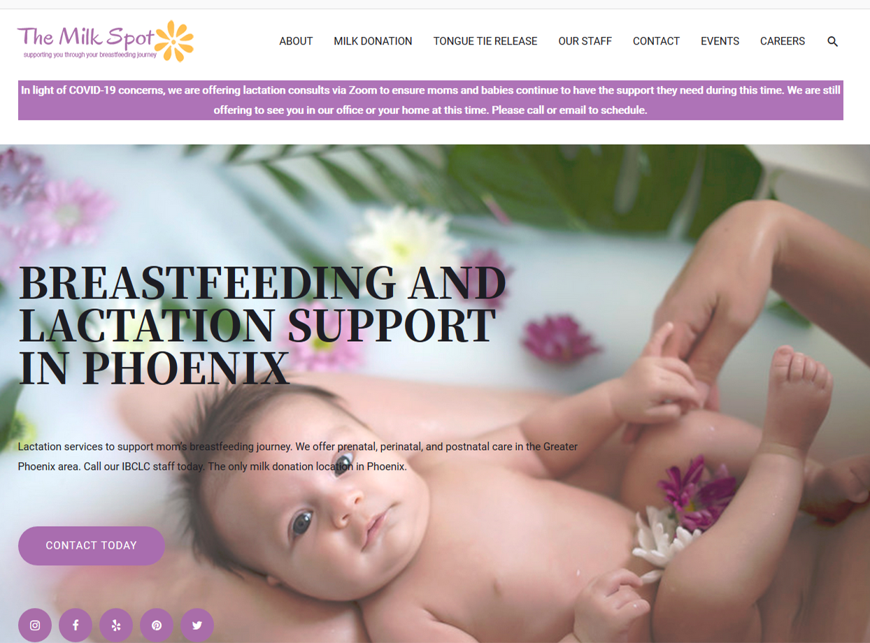Phoenix The Milk Spot Portfolio Project James Wieland Front End Dev