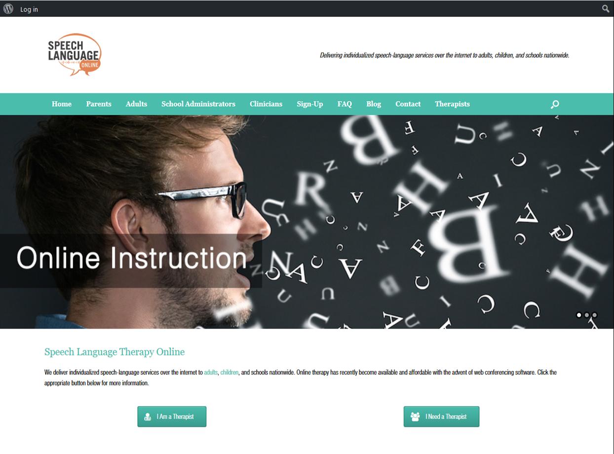 Speech Language Online Portfolio Project James Wieland Front End Dev