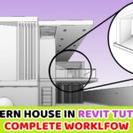 Modeling a Modern House in Revit Tutorial | Complete Workflow | Revit and Enscape