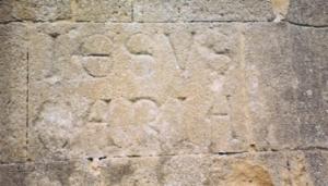 Jesus Maria stone at Abbey Mary Chapel