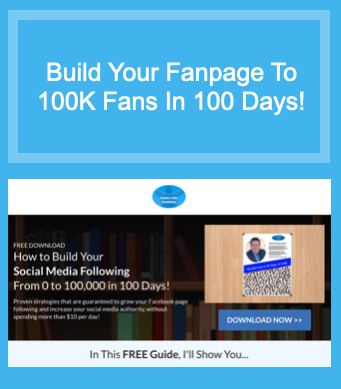 build you fanpage to 100K fans in 100 days