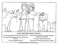 Dog Safety Activity Sheet