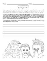 Gossip Bullying Worksheet