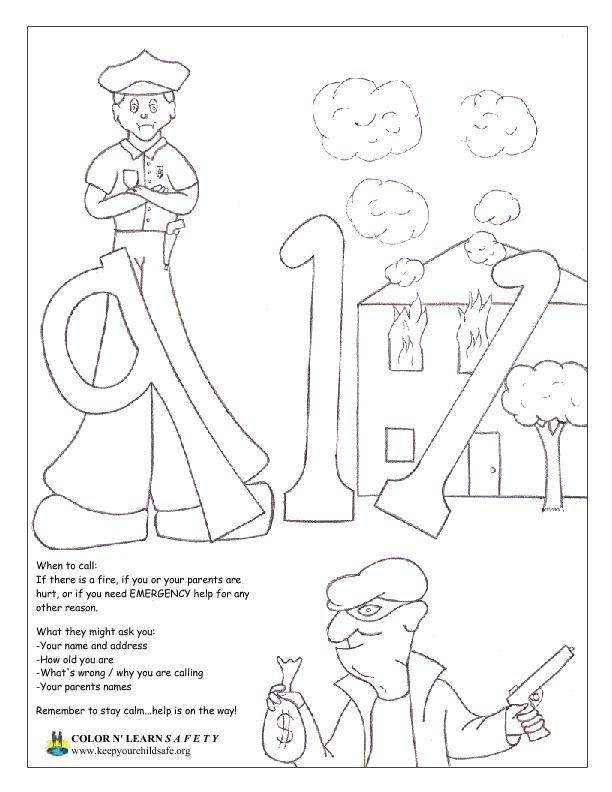FireSafety Quiz! #Freeprintable #coloring #activity | Kindergarten ... | 792x612