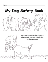 Dog Safety Mini Coloring Book