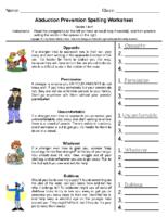 Stranger Danger Spelling Grades 5-6