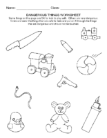 Dangerous Things Worksheet