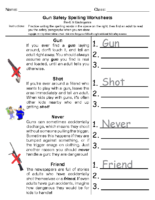 Gun Safety Pre K to Kindergarten