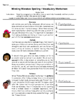 Minding Mistakes Spelling Grade 3-4