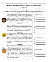 Minding Mistakes Spelling Grade 5-6