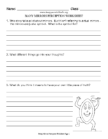 Many Mirrors Perception Worksheet