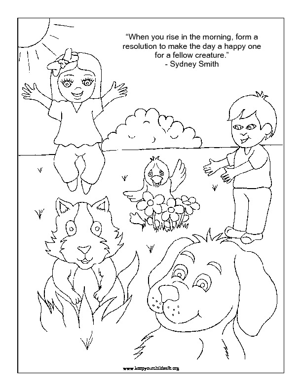 Letter K is for Kindness coloring page | Free Printable Coloring Pages | 792x612