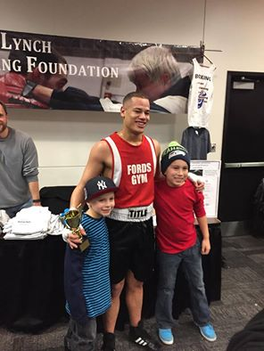 boxer Marcus Johnson and fans