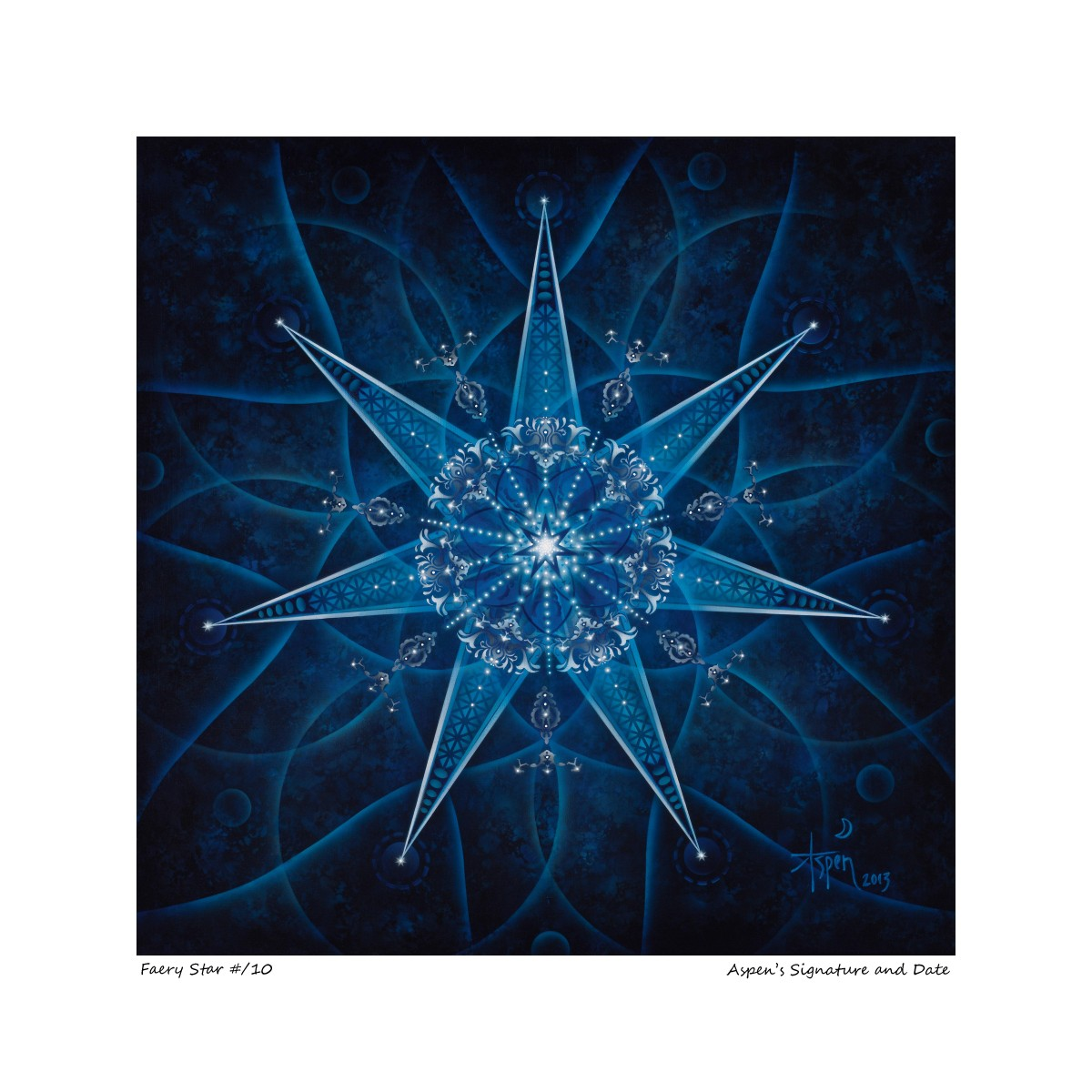 Faery Star Limited Edition Giclée on Fine Art Paper – Framed