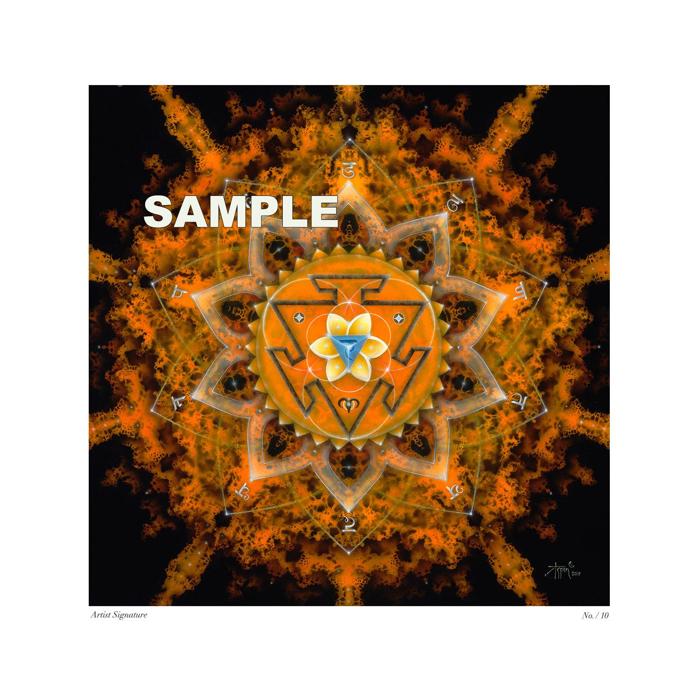 Manipura Limited Edition Giclée on Fine Art Paper – Framed