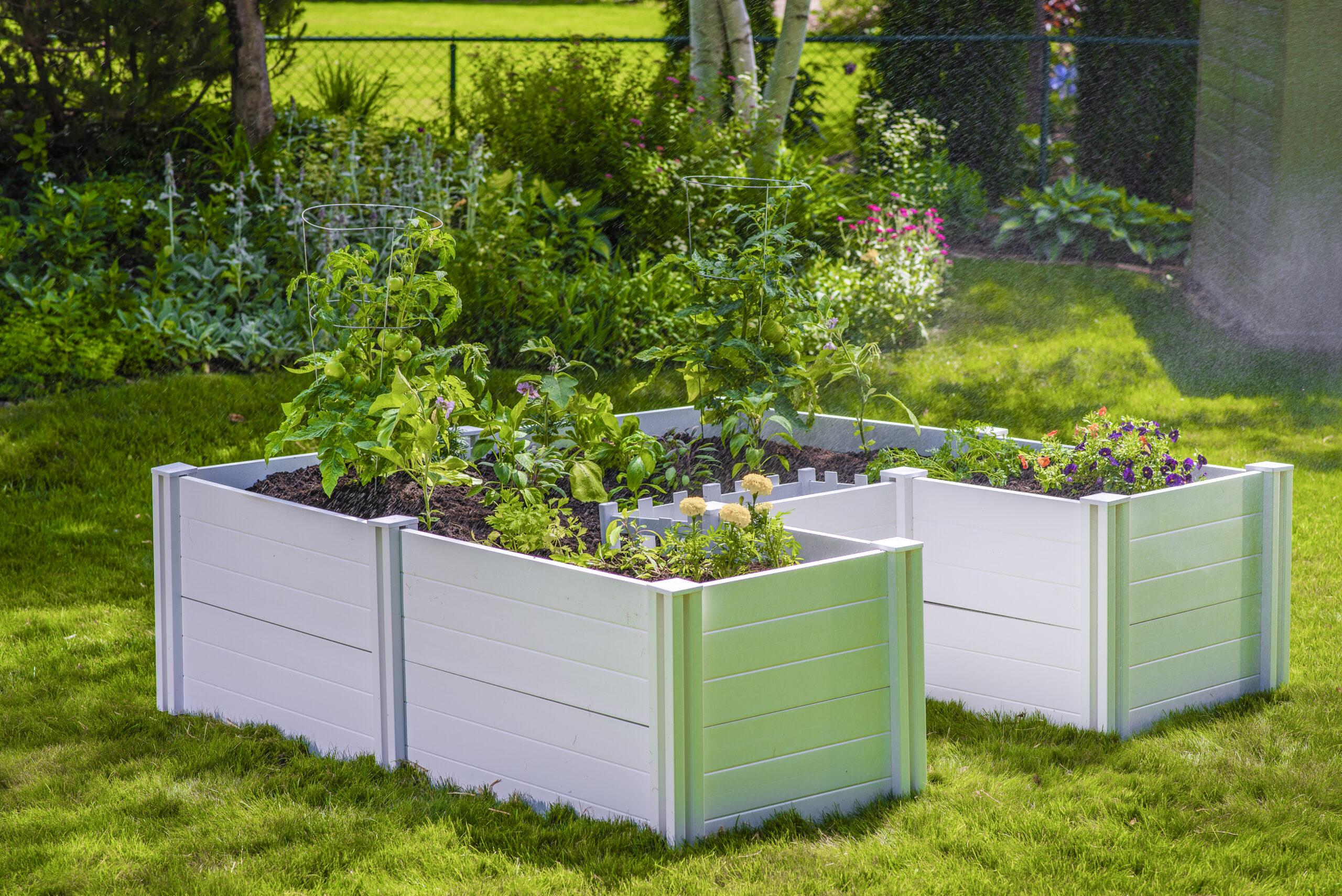 White Keyhole Garden