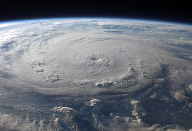 hurricane damage picture from outer space