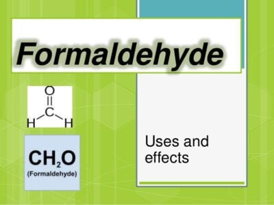 uses of Formaldehyde