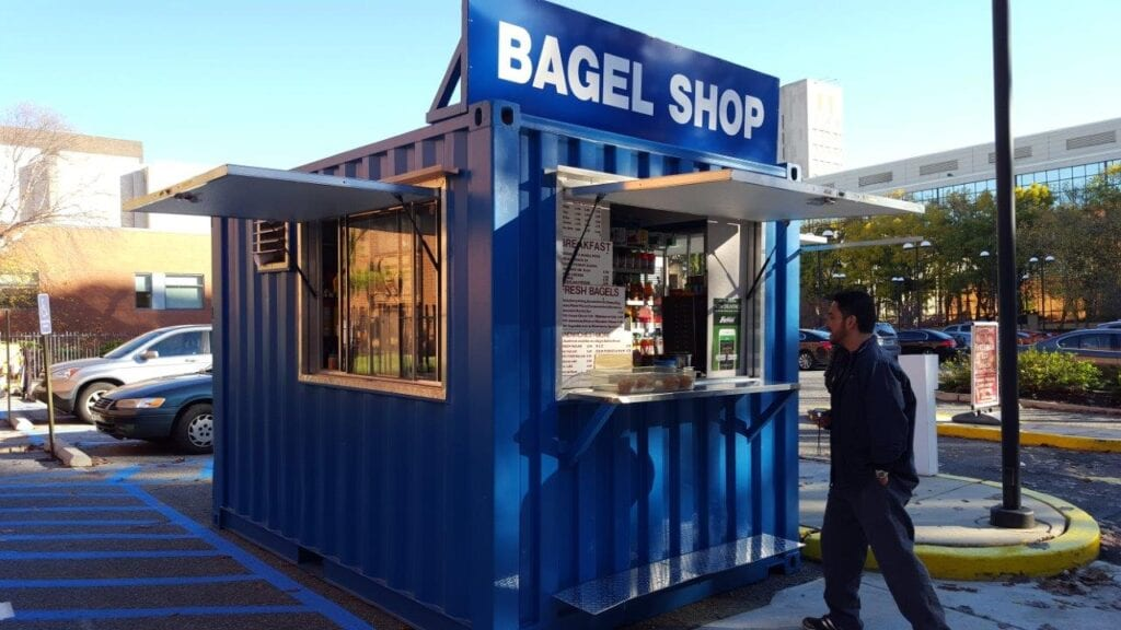 Modified Storage Container Pop-Up Shop