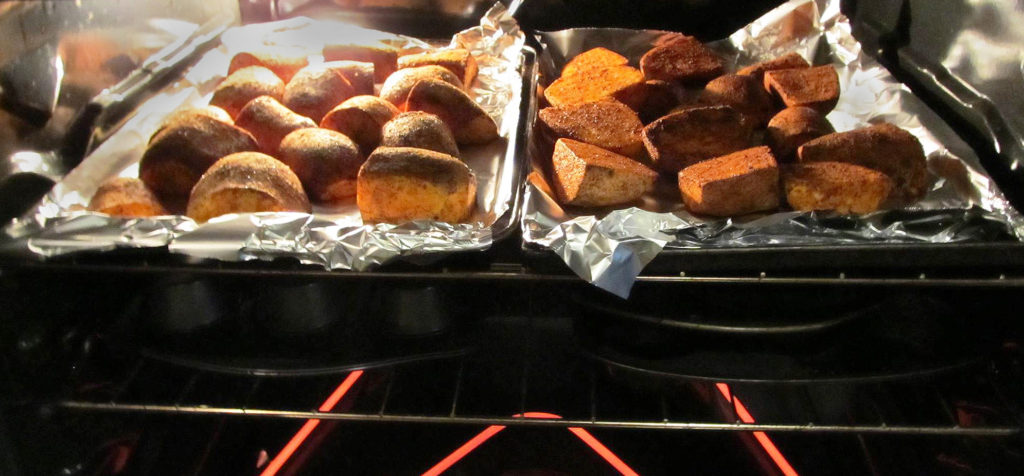 yams-in-oven