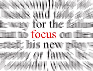 Blurred text with a focus on success