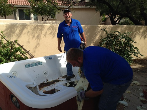 professional hot tub removal