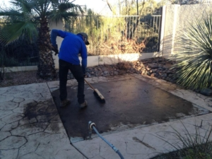 hot tub removal cleanup