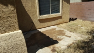 pic of former place where hot tub was on property