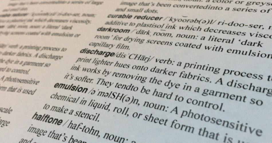 Screen Printers Dictionary