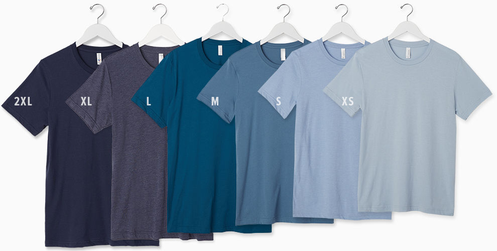 Pick the right tee shirt sizes