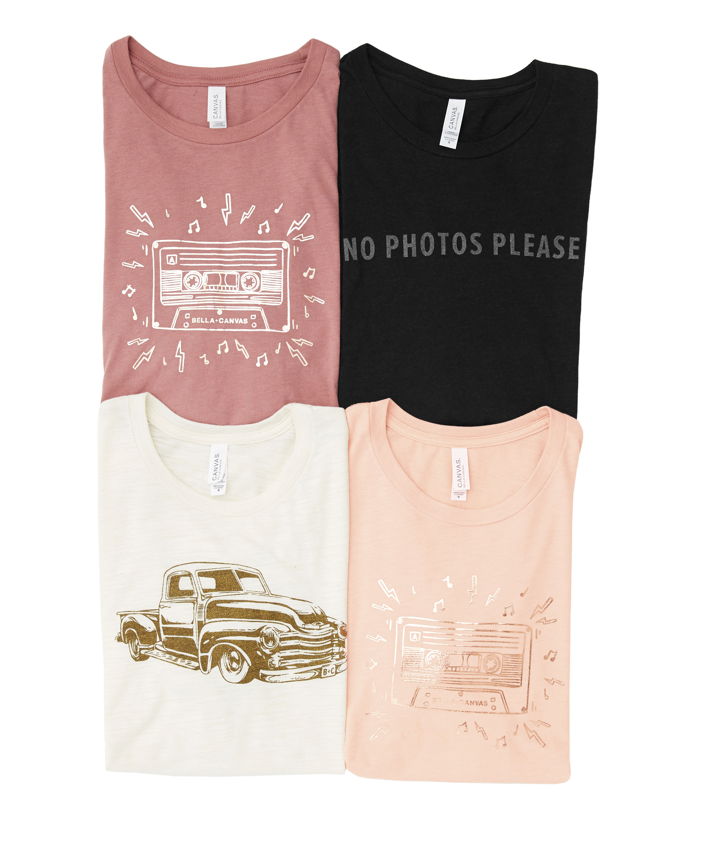 Specialty Inks printed on BELLA+CANVAS T-shirts