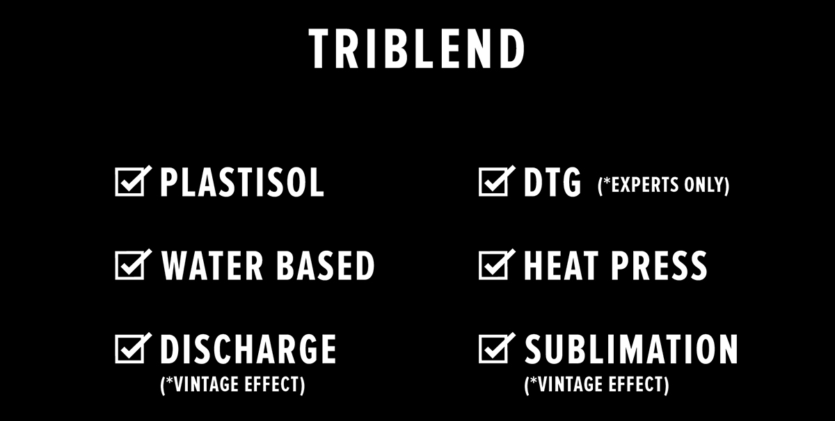 Printing Guide - Triblend