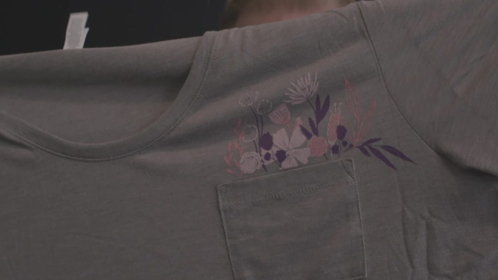 Pocket tee with pocket as a prop