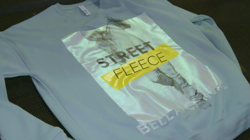 Holographic Design on Fleece