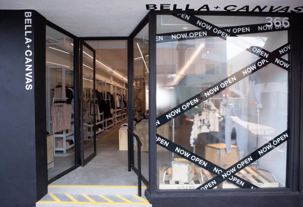 BELLA+CANVAS retail store front