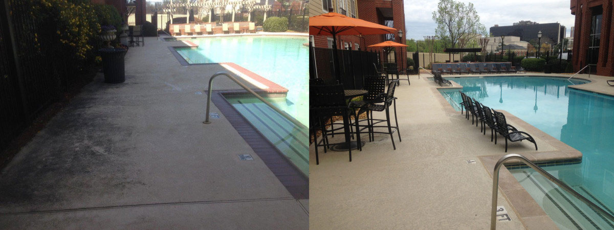 modern deck before after @ Maritime Pools