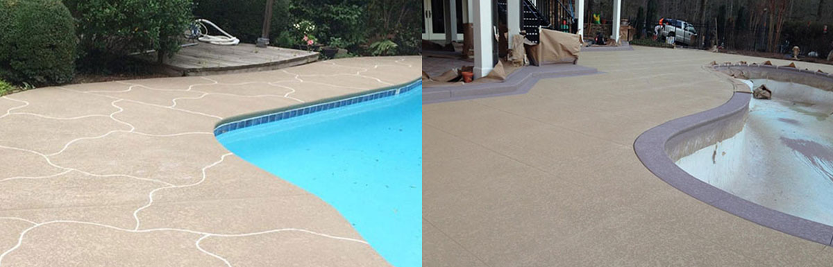 Residential Decks before after @ Maritime Pools
