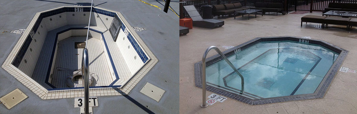 Rooftop Decks before after @ Maritime Pools