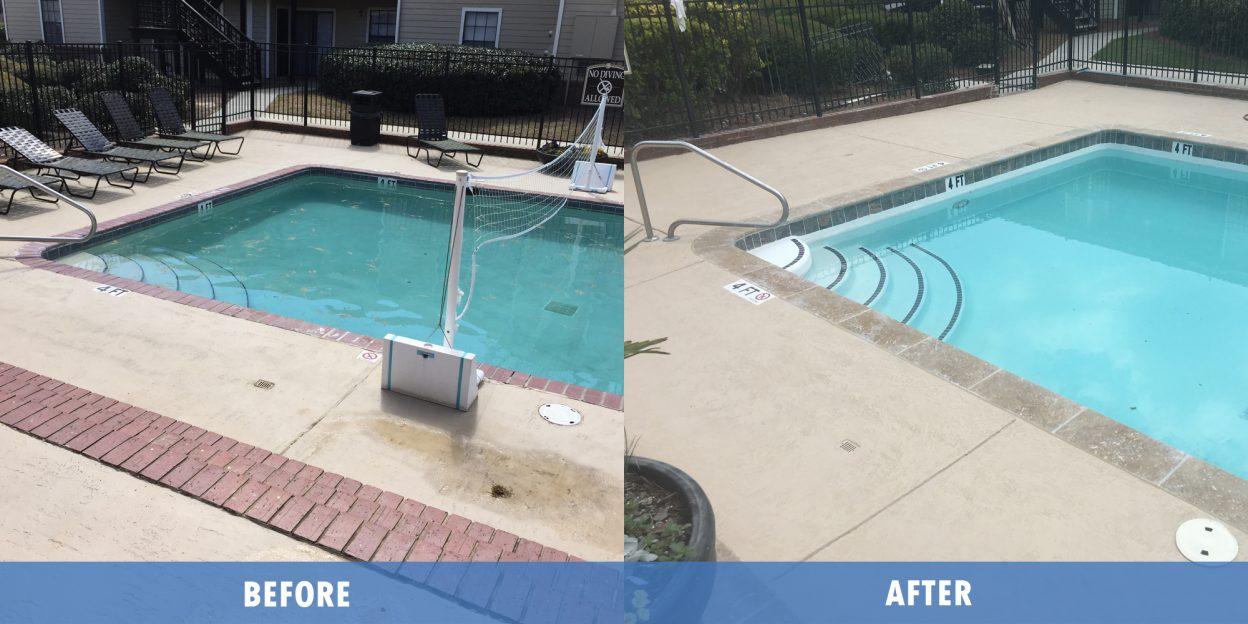 Pool Repair before after @ Maritime pools