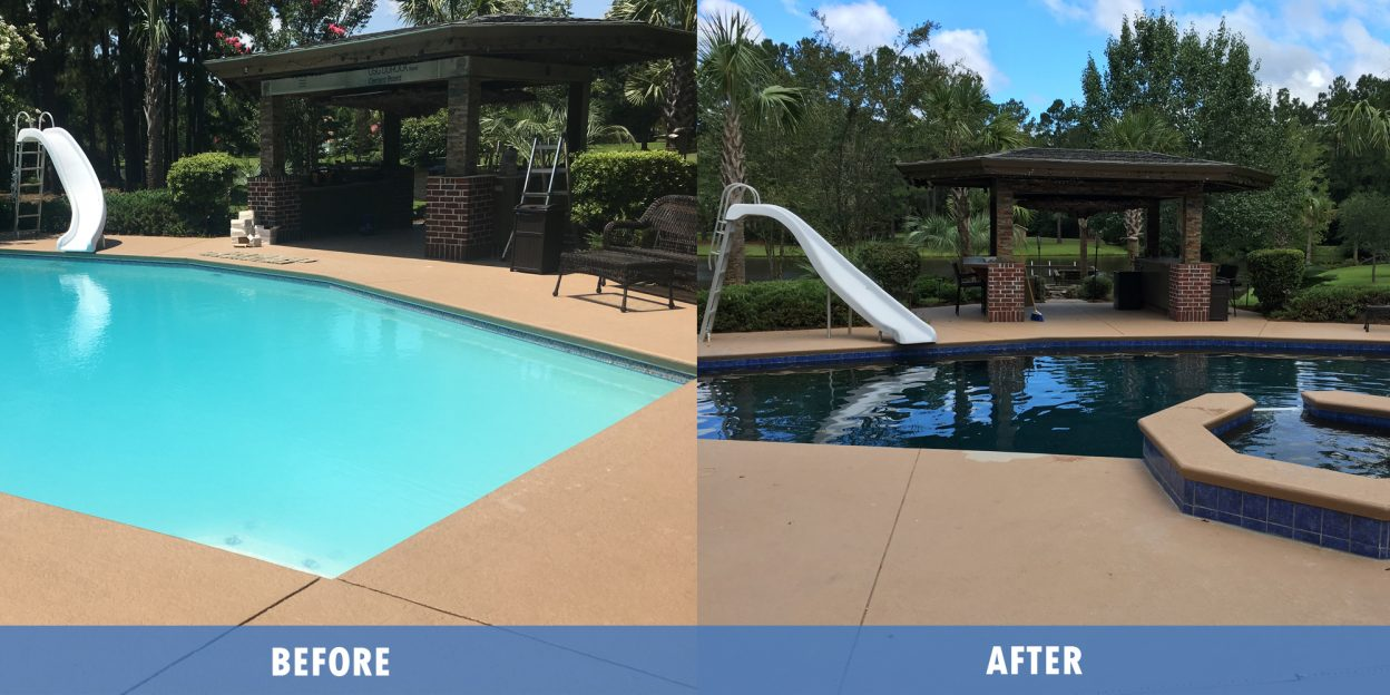 Pool Service, Repair before after @ Maritime pools