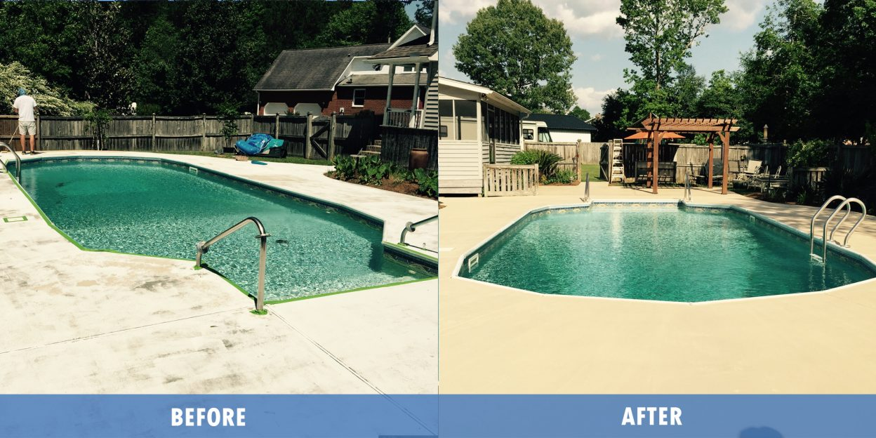 Deck Repair before after @ Maritime pools