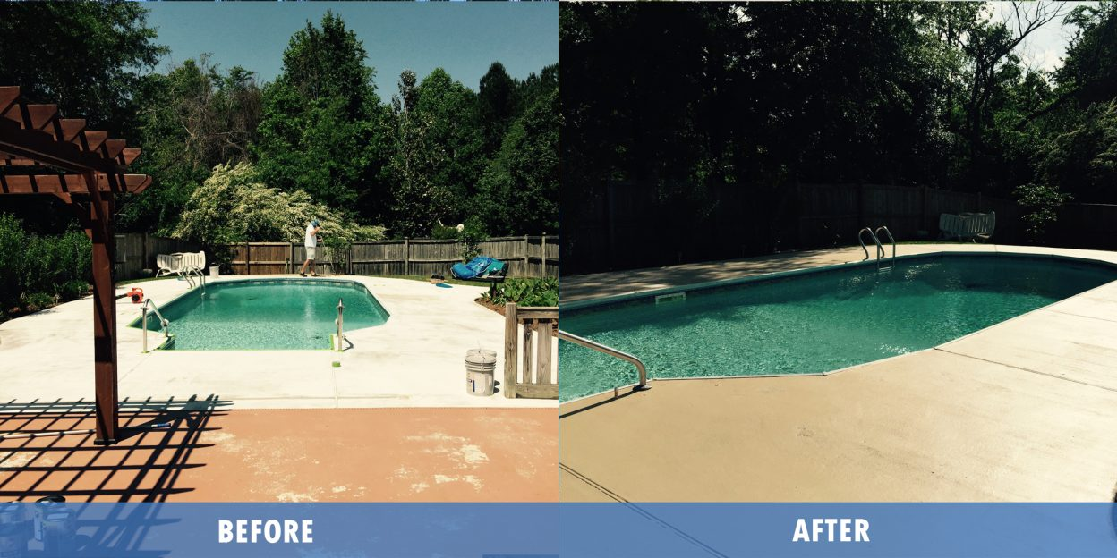 Deck Service before after @ Maritime pools