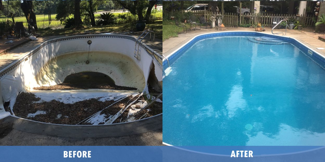 Pool Liner Service before after @ Maritime pools