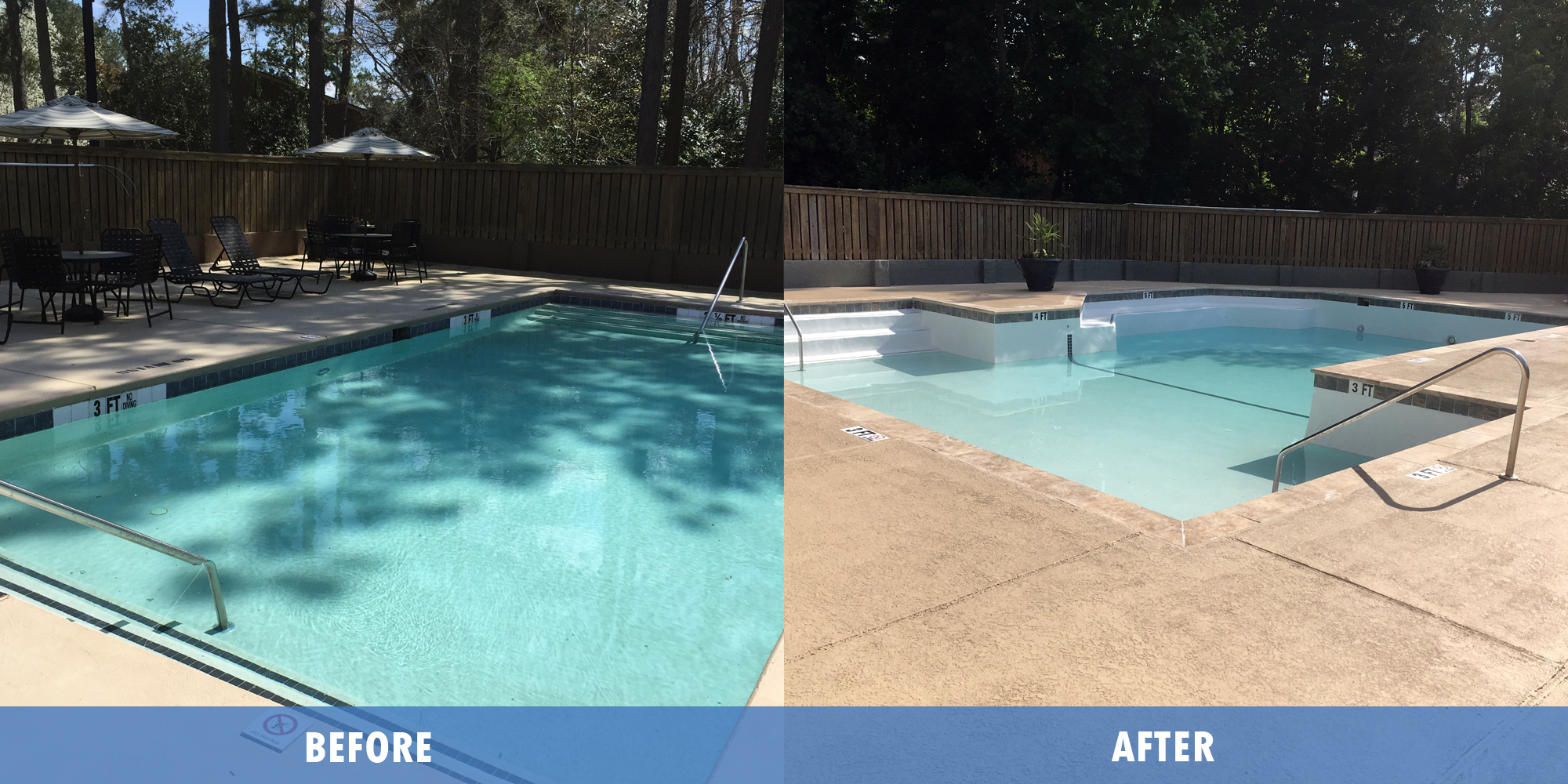 Maritime pools Past Projects - Before After