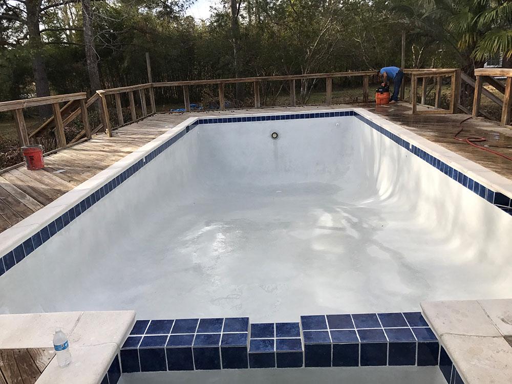 Before Pool Repair @ Maritime Pools