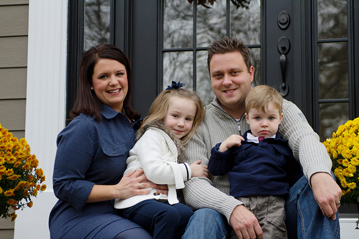 KC Exterior Pros Owner Ryan Hild and Family
