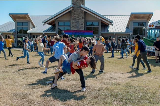 campers dancing