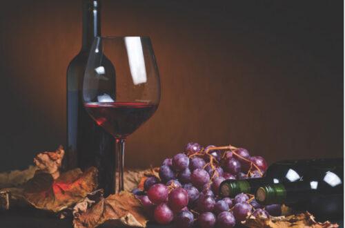 organic red wine