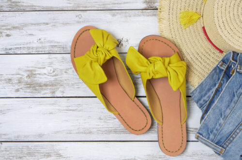 Slide sandals as a gift